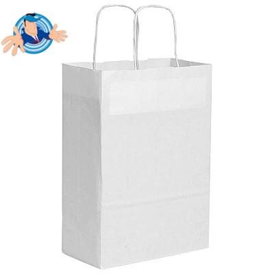 Shopper in carta 22x10x29 cm con maniglia ritorta