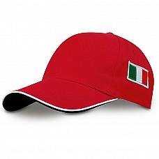 Cappellino con bandiera italiana