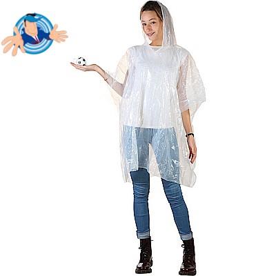 Poncho impermeabile in PVC trasparente