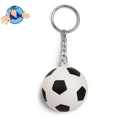 Portachiavi antistress a forma di pallone da calcio