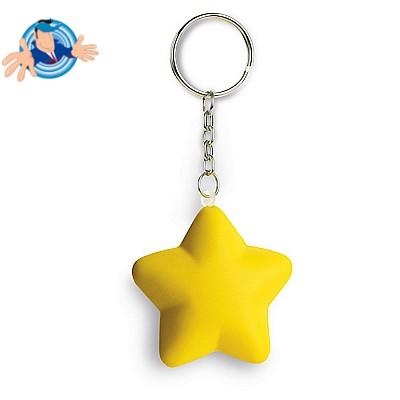 Portachiavi antistress a forma di stella