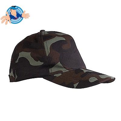 Cappellino 5 pannelli mimetico