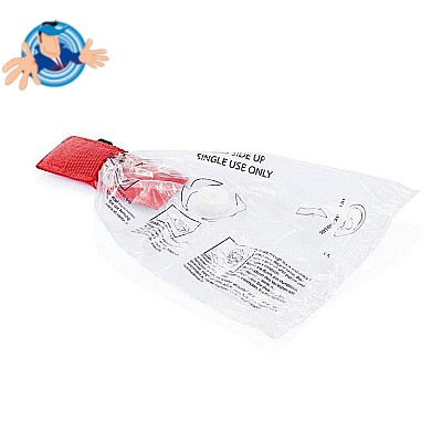 Mascherina CPR con portachiavi